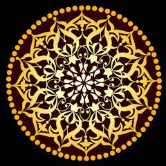 Osmanlı dairesel motif  (altın)
