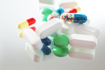 Pile of pills, close-up