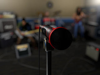3D microphone and band render