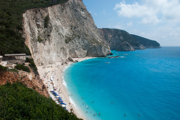 Porto Katsiki beach at Lefkada island in Greece