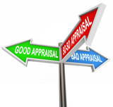 Good vs Bad Appraisal Assessment Evaluation Signs poster