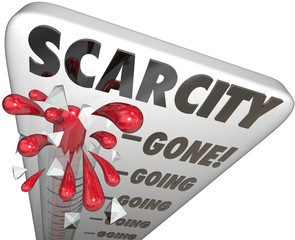Scarcity Limited Inventory Stock Running Low Going Gone Thermome