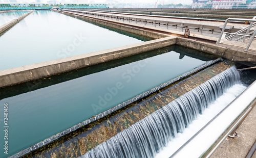 Staande foto Industrial geb. Modern urban wastewater treatment plant