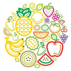 Fruit icon colour circle