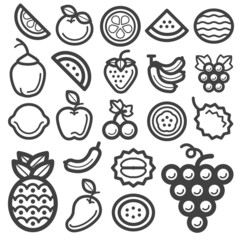 Fruit icon black