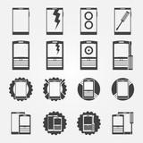 Mobile phone service icon set
