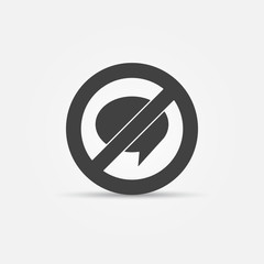 No Chat sign vector icon