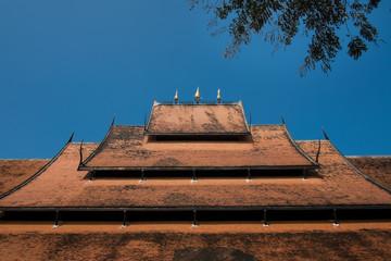 Orange roof of Thai pavilion.
