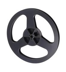 Plastic Black Tape Recorder Bobbin Isolated