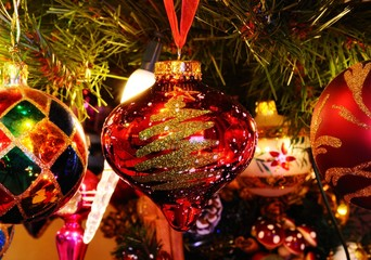 Glass Christmas ornaments © Arena Photo UK