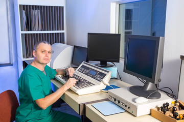 Radiation therapy control room