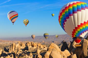 Balloons over Cappadocia.