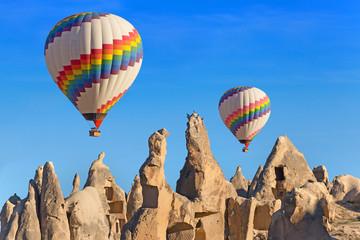 Balloons over Cappadocia, Turkey.