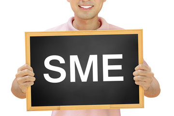 SME (or Small and Medium Enterprise ) sign on blackboard