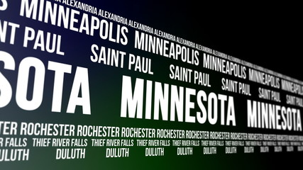 Minnesota State and Major Cities Scrolling Banner