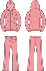 Vector illustration of women's sport suit