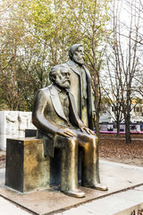 Marx-Engels-Monument in Germany Berlin