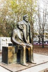 Marx-Engels-Monument in Germany Berlin