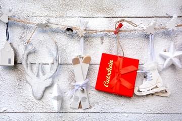 Geschenkgutschein - weihnachtlich
