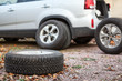 Winter wheels and tyres for suv car for changing