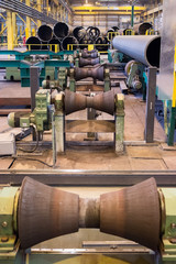 Tube-rollers manufacture line at the pipe rolling factory