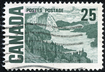 stamp printed in the Canada shows The Solemn Land