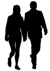Couple on white