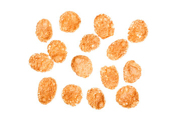 Cornflakes isolated on white