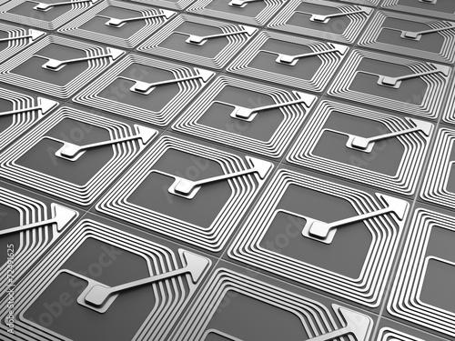 Leinwanddruck Bild rfid chip