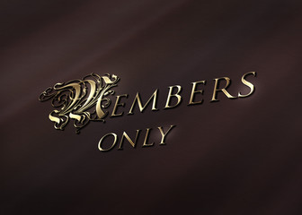 Members only - Gold - Ornament Rahmen