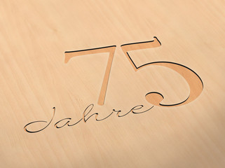 75 Jahre - Holz H