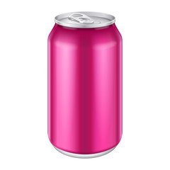 Violet Purple Magenta Pink Metal Aluminum Beverage Drink Can