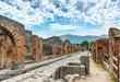Leinwandbild Motiv Street in Pompeii, Italy