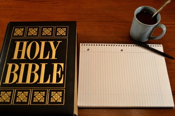 Holy Bible with Notebook (Text Space)