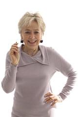 donna senior sorriso occhiali