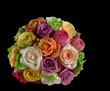 canvas print picture - bride bouquet