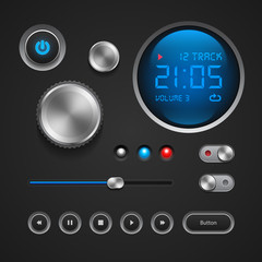 Hi-End User Interface Elements: Buttons, Switchers