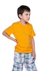 Upset young boy