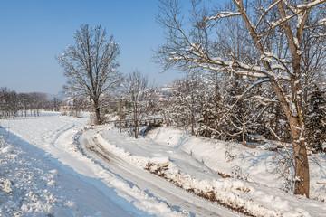 Rural view in winter.