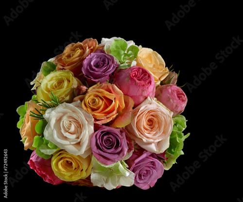 canvas print picture bride bouquet