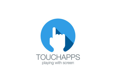 Finger Touch Screen applications technology logo design