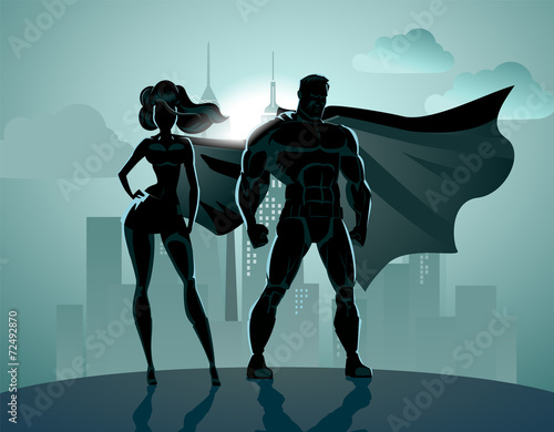 Superhero Couple - 72492870