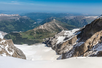 Swiss Alps Mountain Range Landscape, Jungfraujoch, Switzerland