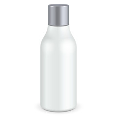 Cosmetic Or Hygiene Grayscale White Gray Bottle Of Gel