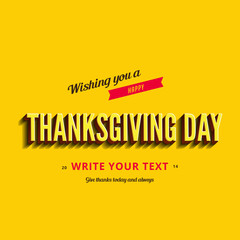 Happy Thanksgiving Day Typography Greeting card design