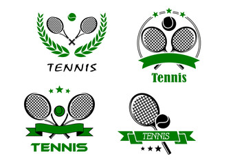 Set of Tennis badges or emblems