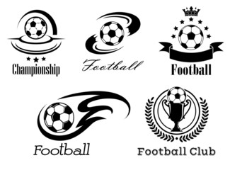 Football and soccer emblems or badges