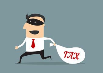 Businessman stealing tax money