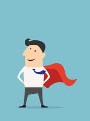 Cartoon businessman Super Hero