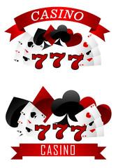 Gambling emblems or signs